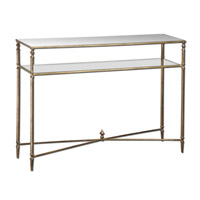 Uttermost Henzler Console Table in Antiqued Gold Leaf 24278