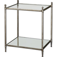 Uttermost Gannon End Table in Antiqued Silver Leaf 24282