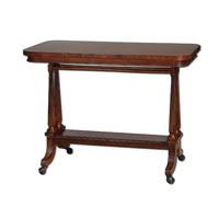 Uttermost Cormac Sofa Table in Dark Cherry Stain 24284 photo thumbnail