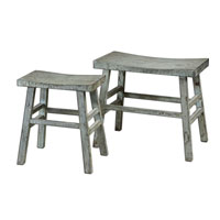 Uttermost Scout Benches Set of 2 in Rustic Sage 24285 photo thumbnail