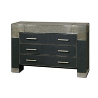 Uttermost Razi Drawer Chest in Black Faux Leather 24290
