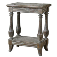 Mardonio 20 inch Waxed Limestone Side Table Home Decor