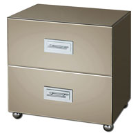 Uttermost Lexia Drawer Chest in Bronze Mirror Facets 24300