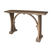 Uttermost Genessis Reclaimed Wood Console Table in Sun Bleached 24302