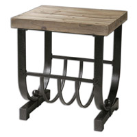 Uttermost Bijan Accent Table in Black Iron 24303