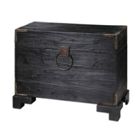 Uttermost Carino Trunk Table in Black Satin 24305
