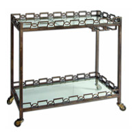 Nicoline Forged Iron Serving Cart