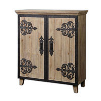 Uttermost Abelardo Rustic Console Cabinet in Lightly Stained Fir 24309
