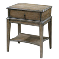 Uttermost 24312 Hanford 27 X 22 inch Weathered Pine Accent Table