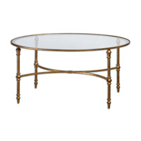 Uttermost 24338 Vitya 40 inch Glass Coffee Table Home Decor