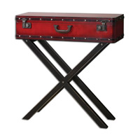 Taggart 32 inch Red Console Table Home Decor