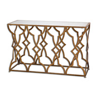 Uttermost 24397 Osea 52 inch Gold Console Table photo thumbnail