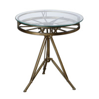 Uttermost Tevi Clock Table in Brass 24398