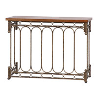 Uttermost Harbin Console Table in Antique Pewter 24405