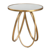 Uttermost Montrez Table in Gold Leaf 24410