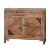 Hesperos Reclaimed Fir Wood Console Cabinet