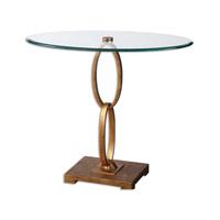 Cieran 32 X 16 inch Lustrous Gold Leaf Accent Table Home Decor