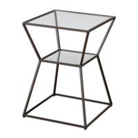 Uttermost Auryon Accent Table in Iron 24438