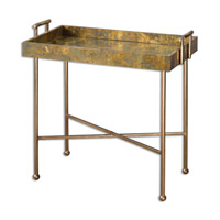 Uttermost Couper Tray Table in Oxidized Copper 24448
