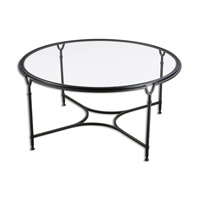 Samson 44 X 44 inch Black Steel Coffee Table Home Decor
