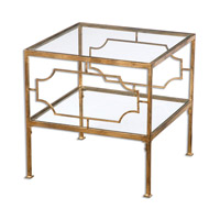 Uttermost Genell Cube Table in Gold 24477