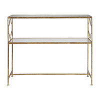 Genell 42 X 16 inch Gold Leaf Iron Console Table