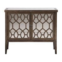 Uttermost Kelson Console Cabinet in Aged Bronze 24581