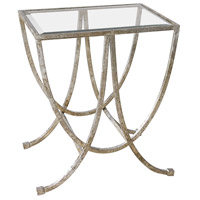 Uttermost 24592 Marta 27 X 24 inch Antique Silver Side Table