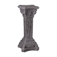 Uttermost Maurizio Plant Stand in Deep Stone Charcoal Grey 24624