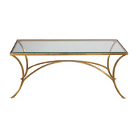 Alayna 48 X 24 inch Antiqued Gold Leaf Coffee Table