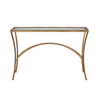 Alayna 48 X 10 inch Antiqued Gold Leaf Console Table