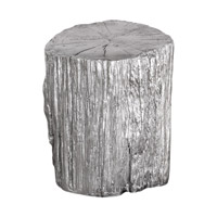 Cambium Metallic Silver Stool Home Decor