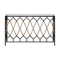 Uttermost Darya Console Table in Aged Black 24665