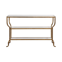 Deline 54 X 14 inch Antiqued Gold Console Table