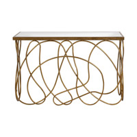 Uttermost Calusa Console Table in Antiqued Gold 24670