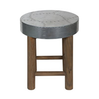 Jace Industrial Aluminum Stool Home Decor, Jim Parsons