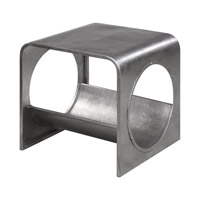 Yeager 21 X 20 inch Silver End Table