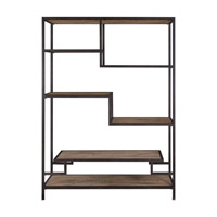 Sherwin 80 X 58 inch Aged Black Etagere