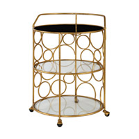 Xandra Antique Gold Serving Cart