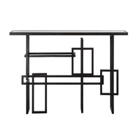 Dane 48 inch Industrial Steel Console Table Home Decor