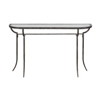 Uttermost 24691 Nakoda 52 X 14 inch Forged Iron/Burnished Silver Console Table thumb