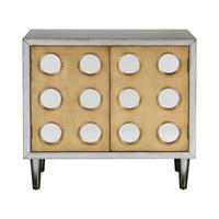 Bea Antiqued Silver Accent Cabinet