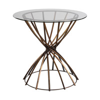 Yael 32 inch Antique Bronze Accent Table Home Decor