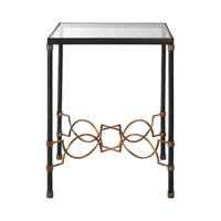 Uttermost 24718 Josie 24 X 18 inch Black End Table, Matthew Williams
