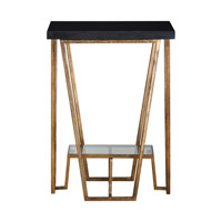 Agnes 16 inch Black Granite End Table Home Decor, Matthew Williams