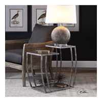 Uttermost 24722 Teeranie 26 X 24 inch Burnished Silver End Table, Matthew Williams 24722_lifestyle.jpg thumb