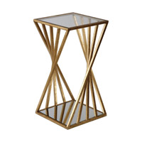 Janina 13 inch Gold End Table Home Decor, Matthew Williams