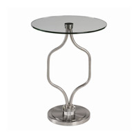 Kizma 20 inch Brushed Nickel End Table Home Decor, Matthew Williams