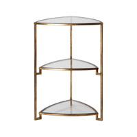 Uttermost 24730 Nastasia 27 X 18 inch Gold Leaf End Table thumb