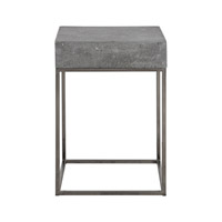 Jude 14 inch Concrete End Table Home Decor, David Frisch